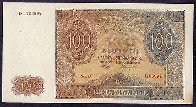 100 Zlotych From Poland 1941 Unc