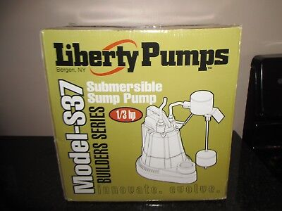 NEW Liberty Pumps S37 1/3 HP Submersible Sump Pump Water Remover