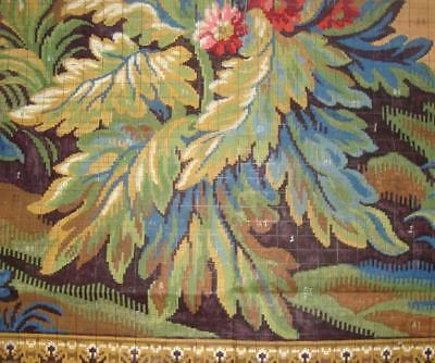 BEAUTIFUL ANTIQUE/VINTAGE HAND PAINTED FRENCH JACQUARD DESIGN CARTOON c1920s