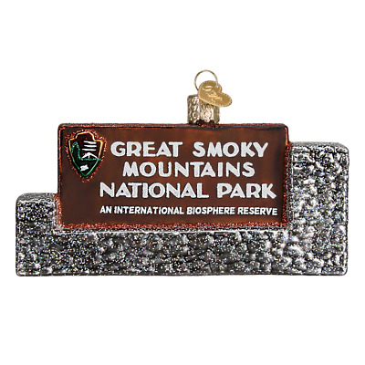 """""""Great Smoky Mountains National Park"""" (36189) Old World Christmas Ornament w Box"""