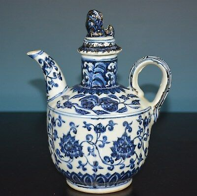 Fine Chinese Blue And White Porcelain Pot Marked Xuande Rare F5311