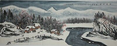 Fine Large Chinese Painting Signed Master Yu Zhixue No Reserve Unframed R9515