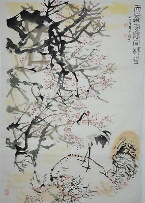 Fine Large Chinese Painting Signed Master Sun Qifeng No Reserve Unframed A7851