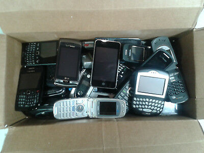 Lot of 2 LB (POUNDS) of Cell Phones etc for Repair or Scrap Gold Recovery