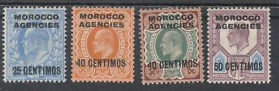 Morocco Agencies -Spanish Currency 1907 Kevii Range To 50 Centimos