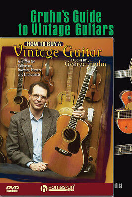 Gruhn's Guide to Vintage Guitars & How to Buy Homespun Video Book DVD Pack NEW