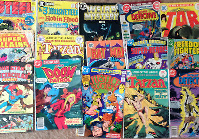 Mixed of 15 DC comics from 1970's - many titles, Batman, Justice Society, etc