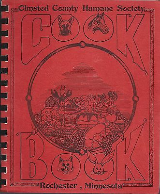 Rochester Mn Vintage Olmsted County Humane Society Cook Book * Minnesota Recipes