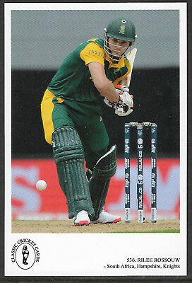 RILEE ROSSOUW (South Africa, Hampshire, Knights) CLASSIC CRICKET POSTCARD No.536