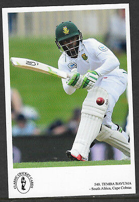 TEMBA BAVUMA (South Africa, Cape Cobras) CLASSIC CRICKET POSTCARD No.540