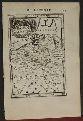 Belgium Luxembourg 1683 Alain Manesson Mallet Antique Copper Engraved Map