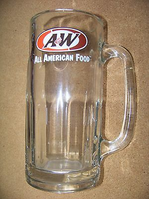 A & W All American Food glass handled cup mug tankard A&W root beer