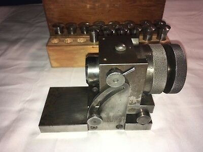 Indexing Head Fixture Tilting Sine Plate and 30 Hardinge 3AT Collets Machinist