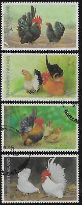 THAILAND 1991 ROOSTERS & HENS Set 4v USED (No 2)