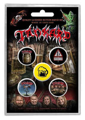 Tankard - 5 x 2.5cm Button Set - One Foot In The Grave