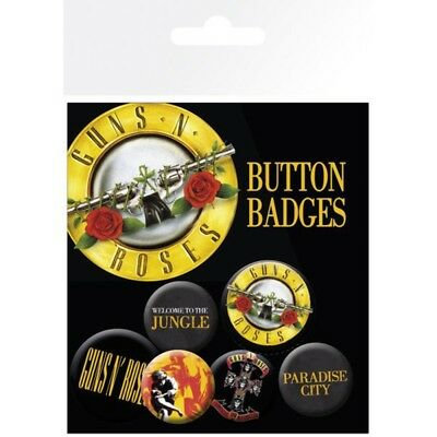 Guns N Roses - Button Set (6 Buttons)