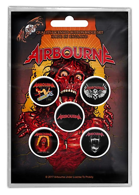 Airbourne - 5 x 2.5cm Button Set - Breakin Outta Hell
