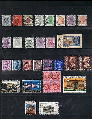 Selection Of Stamps From Hong Kong Including Early.