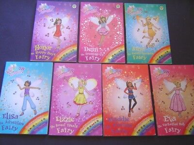 "COMPLETE SET OF 7 ""RAINBOW MAGIC""  BOOKS No. 106-112 THE PRINCESS FAIRIES"