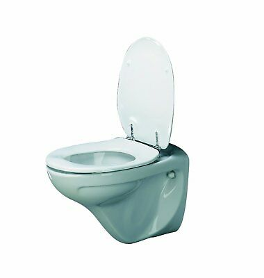 Patterson Medical Raised Toilet Seat Pressalit Dania With Cover - 5 cm/2-inch