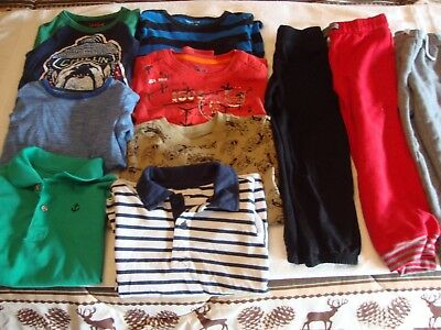 Lot of 10 toddler boys mixed clothing sIze 5 - 5T /Shirts /pants