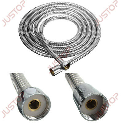 Stainless Steel Chrome Flexible Bathroom Bath Shower Head Hose Pipe 1.5M-2.5M UK