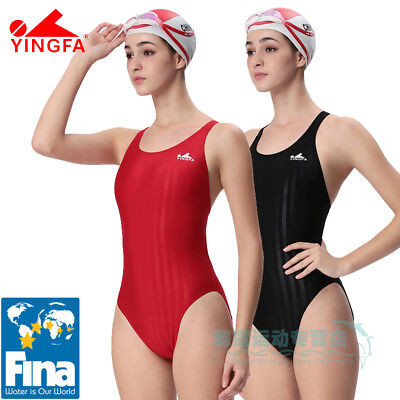 42a9e474c4 YINGFA Womens Girls Competition Training Racing swimsuit Fina Approved 982
