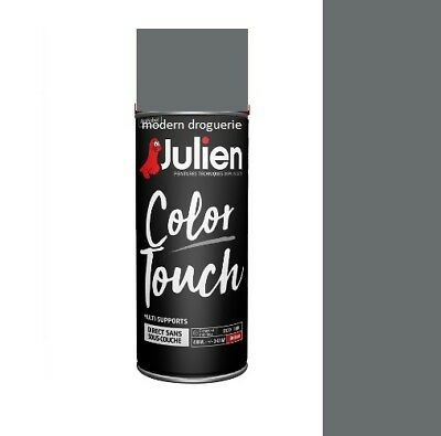 Aerosol Bombe Peinture Gris Anthracite Satin 400 Ml Julien Color Touch