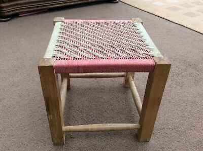 Old Wicker Small Stool