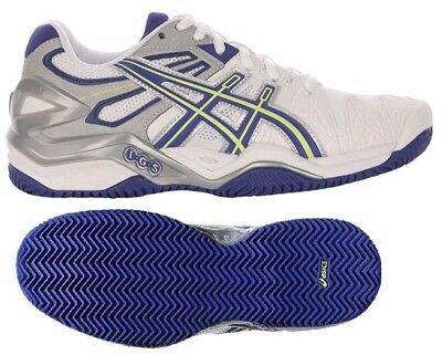 Womens Ladies ASICS Gel Resolution 5 Clay Court Tennis Shoes Trainers Size 8.5