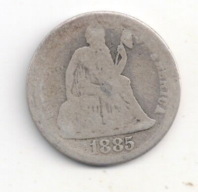 1885-P Seated Liberty Dime 90% Silver