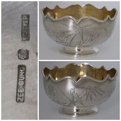 Chinese Export Silver Bowl by Zee Sung Shanghai