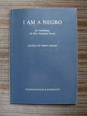 I Am A Negro - An Anthology of Afro-American Poetry - englischsprachig