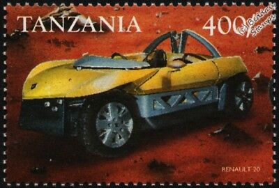 1998 RENAULT ZO Concept Car Mint Automobile Stamp (1999 Tanzania)