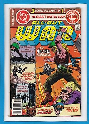 All Out War #2_December 1979_Fine+_The Viking Commando_Bronze Dc Dollar Comic!
