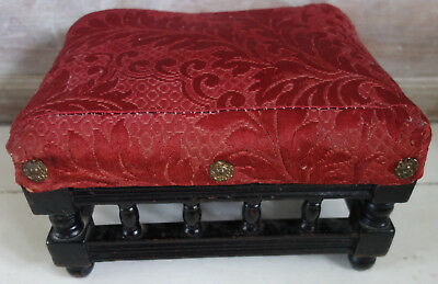 victorian turned wood footstool.12x10x7 inches