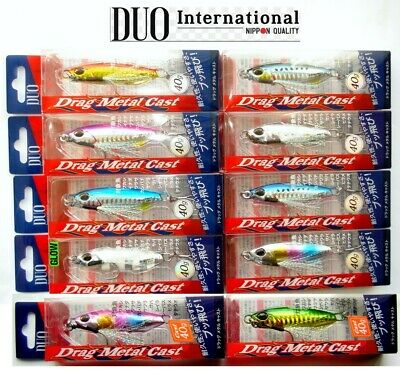 DUO DRAG METAL CAST JIG 40gr. Shore Jigging,JIG,Saltwater Fishing Lure,Hard Bait