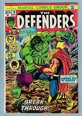 DEFENDERS # 10 VFN (8.0) HULK vs THOR BATTLE (PART OF THE NEW THOR MOVIE)- CENTS