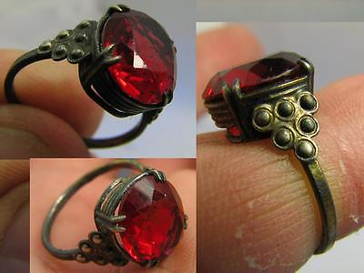 AUTHOR'S WORK ! VINTAGE STERLING SILVER RING with STONE ! 100% WEARABLE! #6483