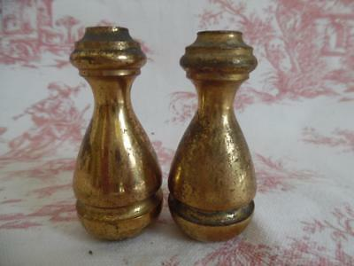 Pair Of Vintage French Brass Blind / Light Pulls