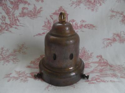 Genuine Antique French Brass Shade Carrier / Gallery / Fitting-B.a.g. Paris