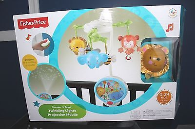 Ln Fisher Price Discover N Grow Twinkling Lights Projection Mobile Remote & Box