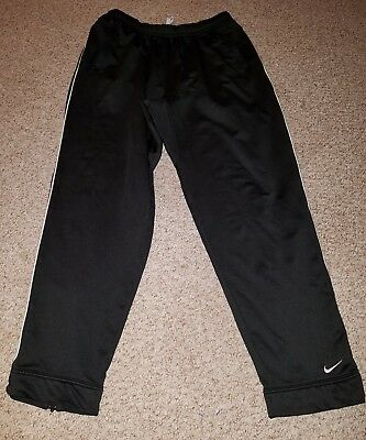 Women Nike Dri-fit Black Drawstring Pockets Pants Large 10/12