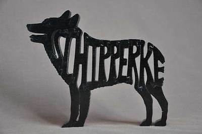 Schipperke Dog Wooden Puzzle Amish Made Scroll Saw Toy