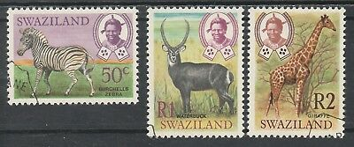 Swaziland 1968 King Animals 50C R1 And R2 Used Top 3 Values