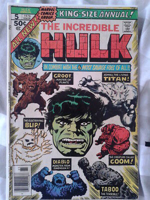 Hulk king size annual 5 (1976) 2nd Groot appearance