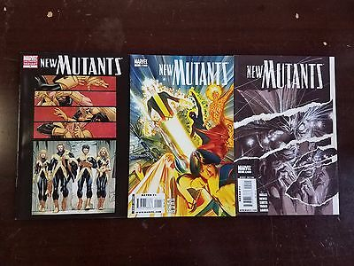 2009 Marvel Comics Lot Of 3 New Mutants #1, 2 And #1 Variant Nm Flat Rate S/h