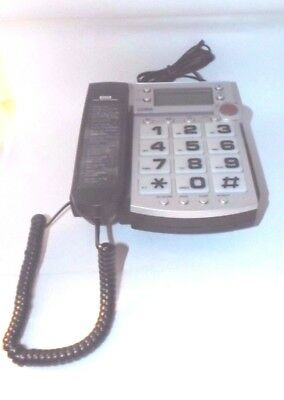 Vintage Cora Large Number Push Big Button Desk Wall Phone - Sight Impaired