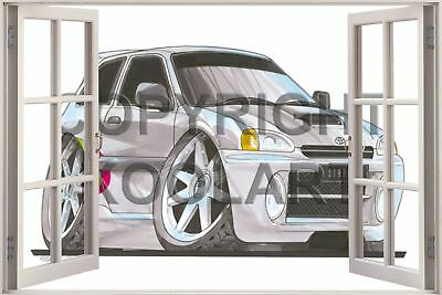 2x LOW YOUR TEXT Toyota Starlet GT Turbo EP82 outline sticker decal 217