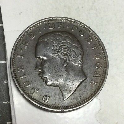 PORTUGAL 1883 20 Reis coin very nice condition